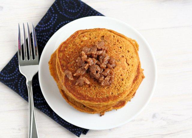 Pumpkin Cinnamon Streusel Pancakes