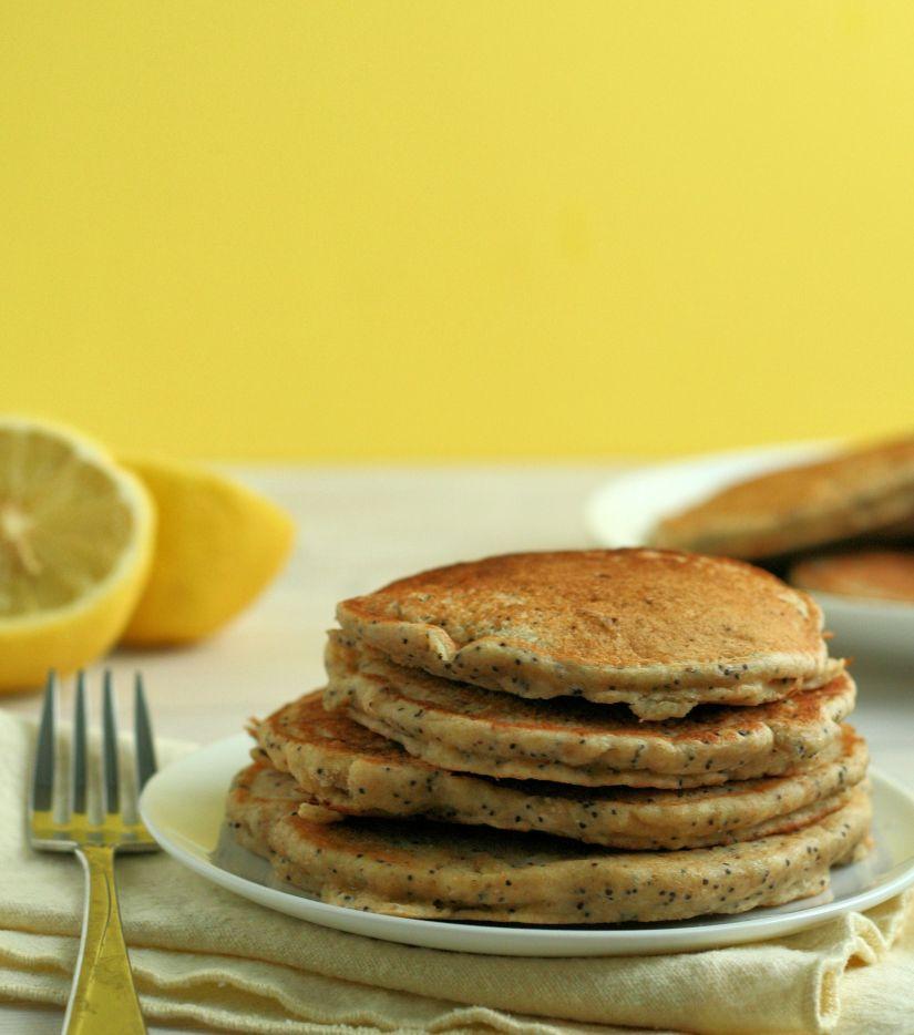 Lemon Poppy Seed Yogurt Pancakes