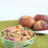 Fall Farro with Sausage and Apples