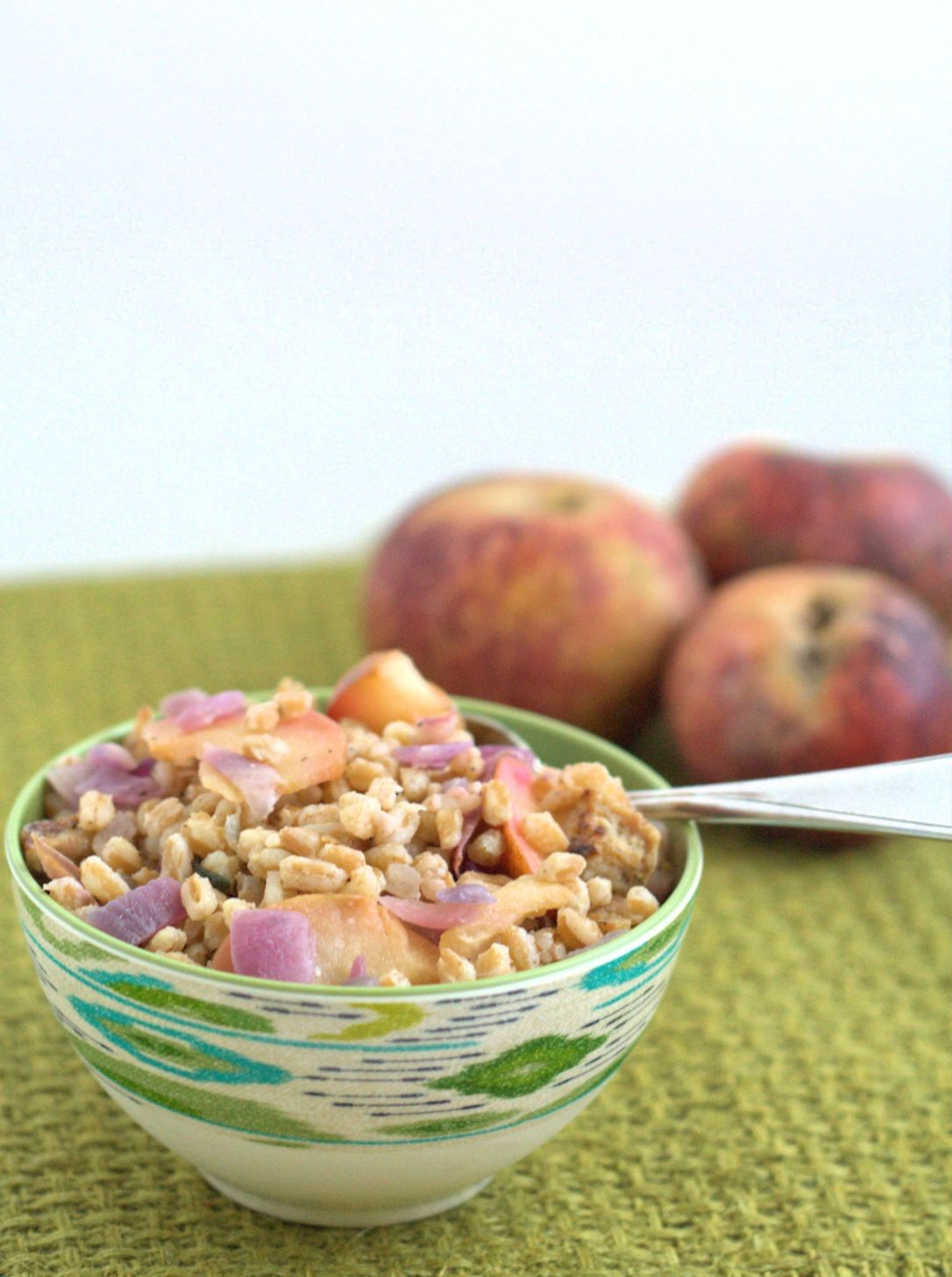 Farro with Sausage and Apples 2