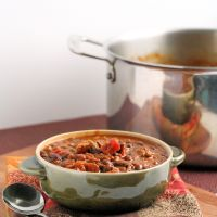 Halloween Pumpkin and Black Bean Chili