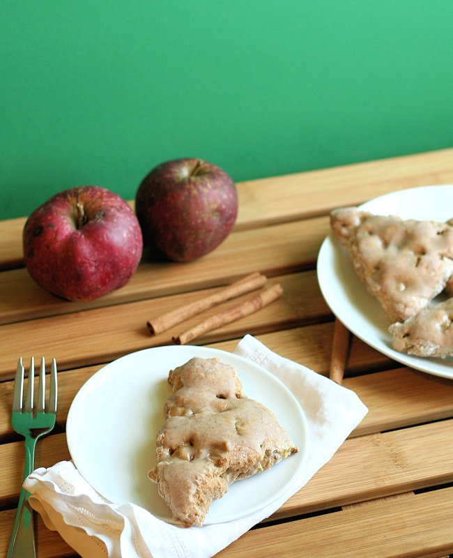 Spiced Apple Scones with Cinnamon Glaze 2