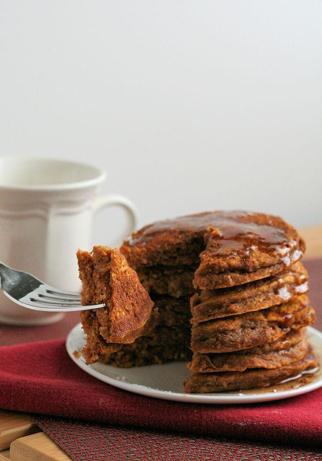 Whole Grain Gingerbread Pumpkin Pancakes 5