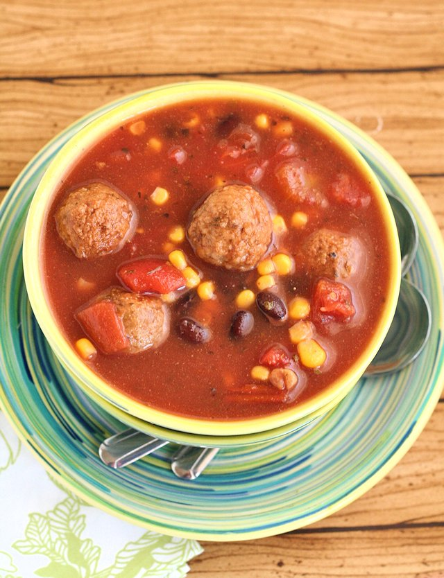 Slow Cooker Mexican Meatball Soup 2
