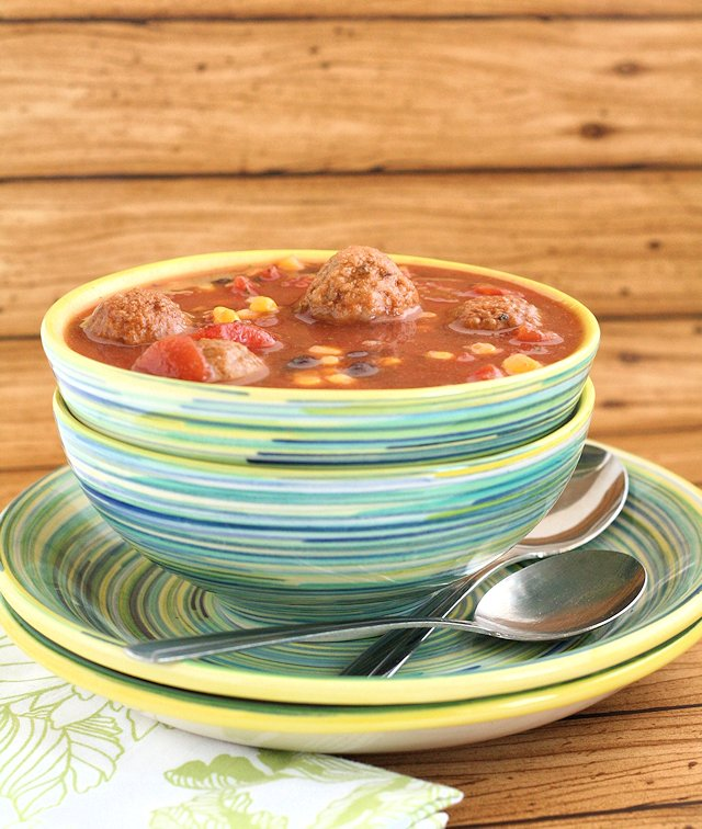 Slow Cooker Mexican Meatball Soup 3