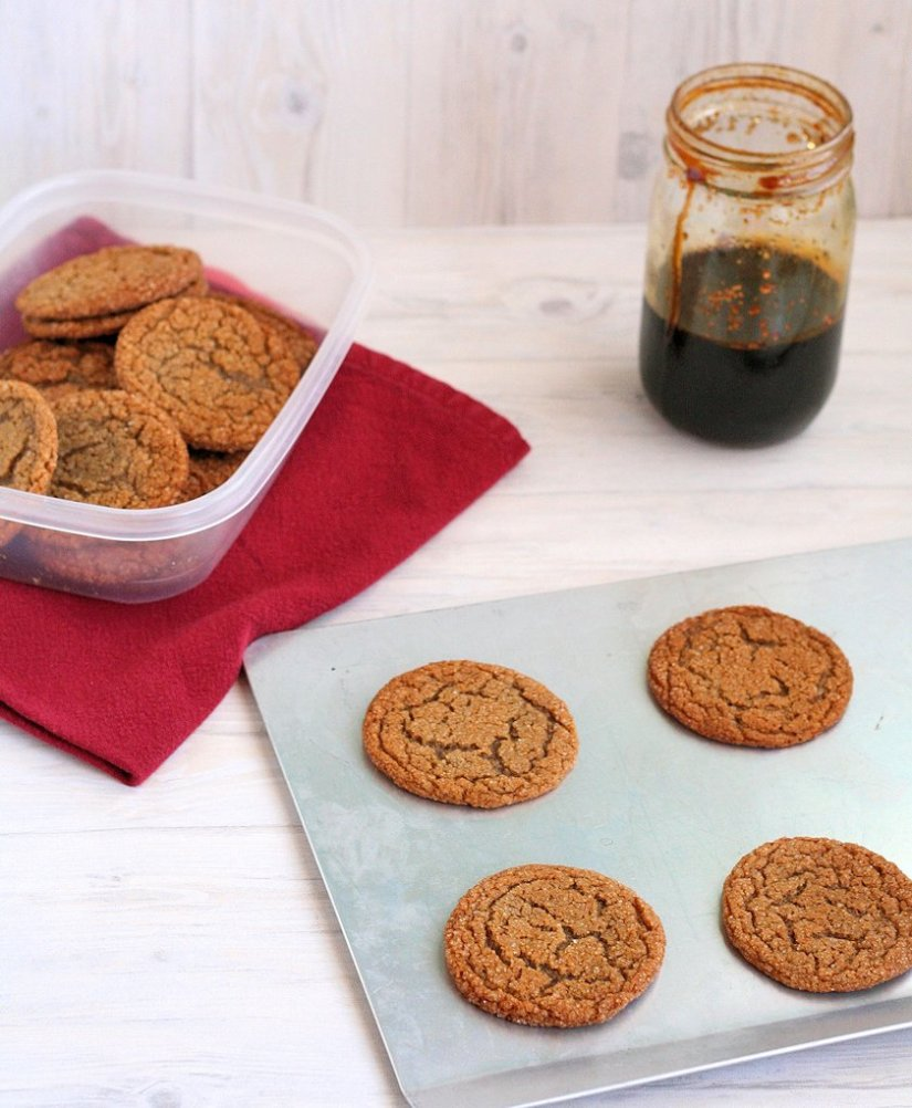 Iced Molasses Cookies 6