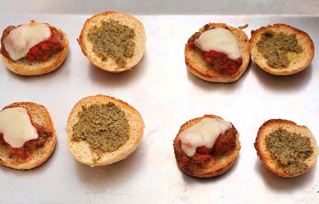Mini Meatball Sliders with Pesto 3