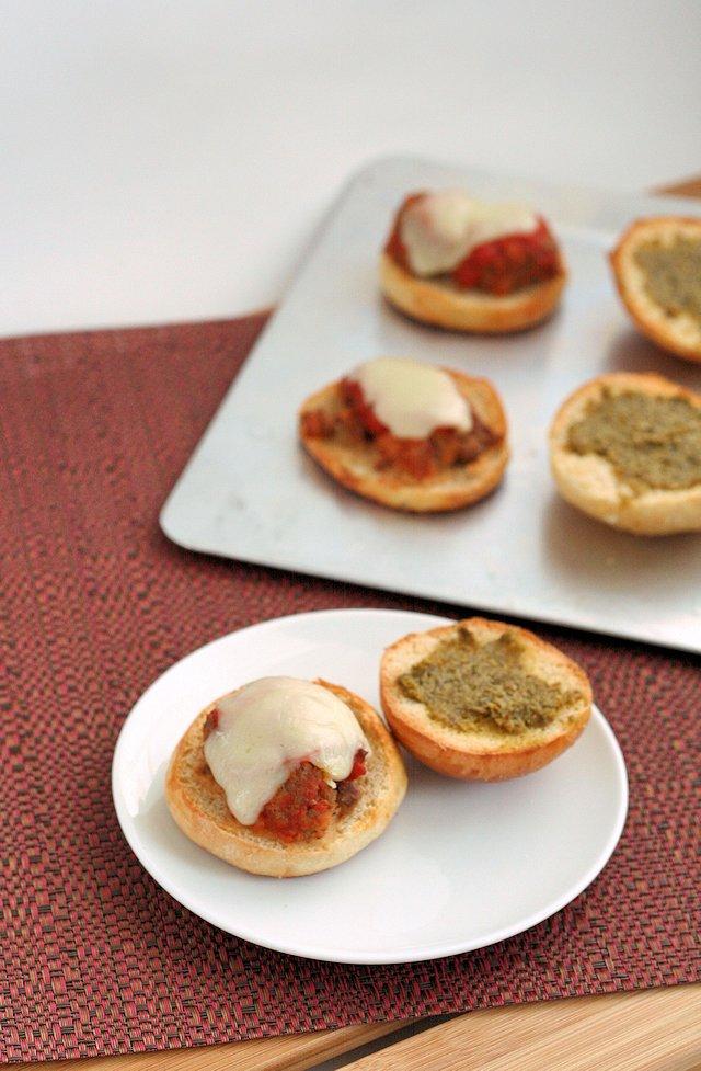 Mini Meatball Sliders with Pesto 4